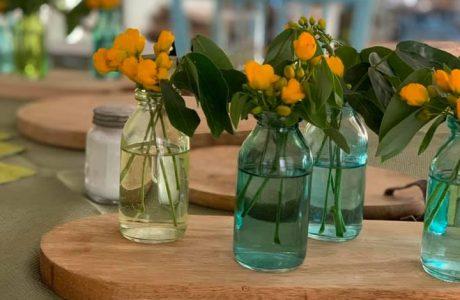 עיצוב שולחן בעזרת בקבוקים – חלק ב׳